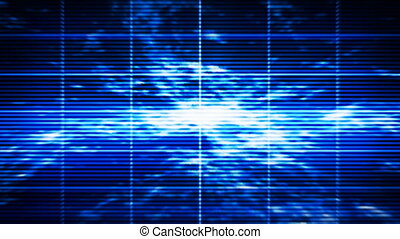 Abstract blue display - Abstract blue high-tech display...