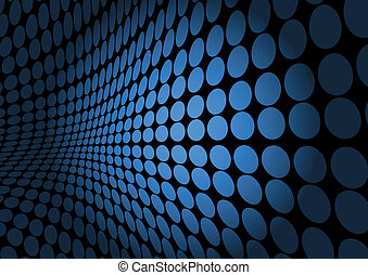Abstract blue dot space