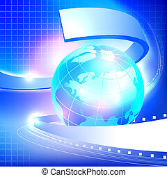 Abstract blue Earth background