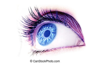 Abstract blue eye - Beautiful abstract blue eye, extreme...