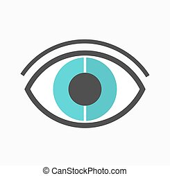 Abstract blue eye vector