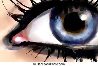 Abstract Blue Eye. Vector
