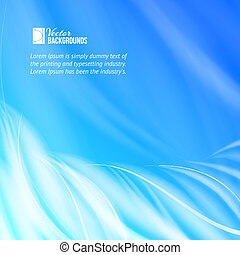Abstract blue flames. Vector illustration, contains...