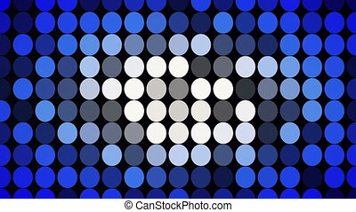 Abstract blue flashing circles