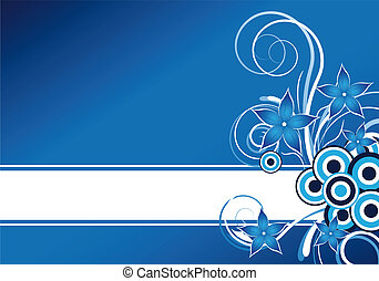 blue floral background - abstract blue floral background...