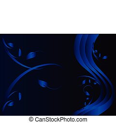 Abstract blue floral background