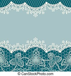 Abstract blue floral vintage card design with copy space.