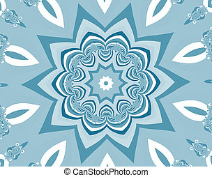 Abstract Blue Flower, fractal 24F