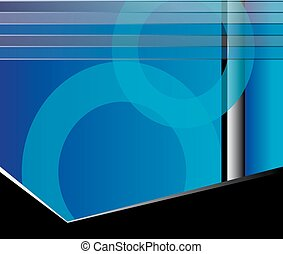 Abstract blue flyer background