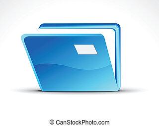 abstract blue folder icon vector