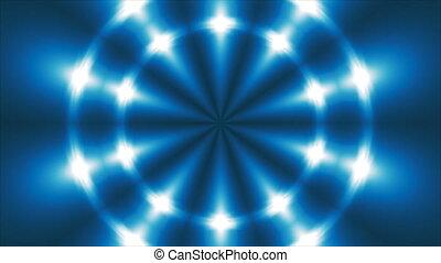 Abstract blue fractal lights, 3d render backdrop, computer...