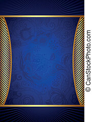 Abstract Blue Frame Background