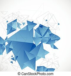 Abstract blue futuristic background for design