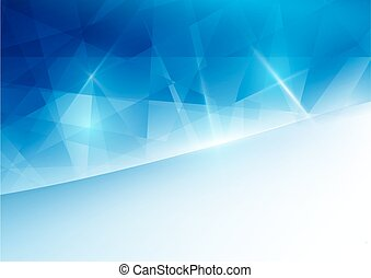 Abstract blue geometric and space for your text