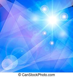 Abstract blue geometric background.