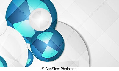 Abstract blue geometric corporate animated background