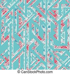 Abstract blue geometric seamless pattern