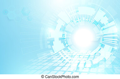 Abstract blue geometric technology Futuristic concept background