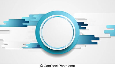 Abstract blue geometric video animation - Abstract blue...
