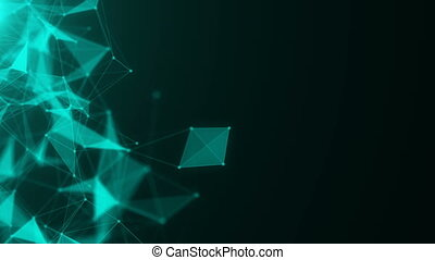 abstract blue geometrical background with moving lines