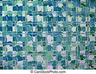 abstract blue glass wall