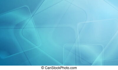 Abstract blue glossy squares tech video animation