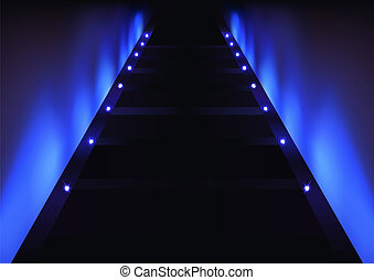 Abstract Blue Glow Background