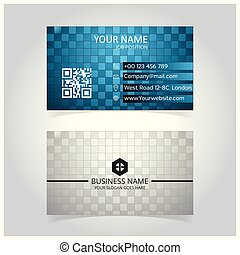 Abstract Blue & Gray Glowing Business Card template