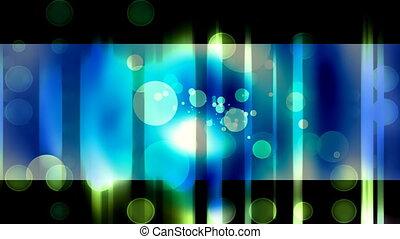 Abstract Blue Green Circles Loop