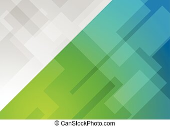 Abstract blue green geometric background