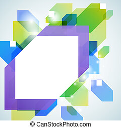 Abstract blue green illustration for your business message