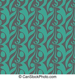 abstract blue green seamless patter