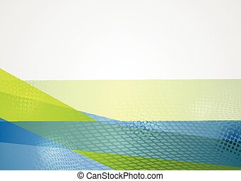 Abstract blue green tech background