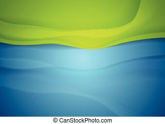 Abstract blue green wavy background