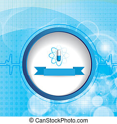 Abstract blue grid medical background