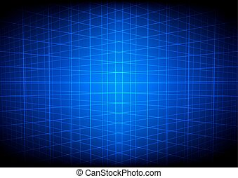 Abstract blue grid perspective technology background