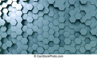 Abstract blue hexagonal background