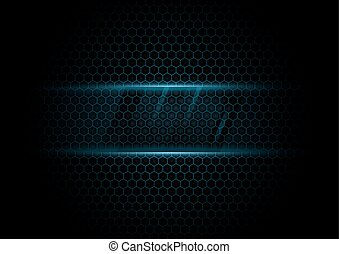 Abstract blue hexagons background. technology concept design