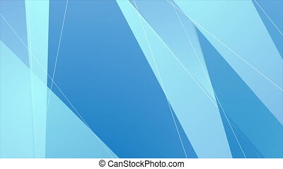 Abstract bright blue hi-tech polygonal corporate motion background. Seamless looping. Video animation Ultra HD 4K 3840x2160