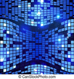 Abstract blue hi-tech seamless geometric background vector