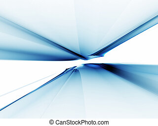 Abstract blue horizon stretching off to infinity