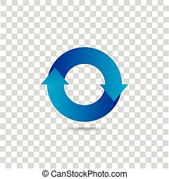 Abstract blue icon
