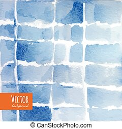 Abstract blue indigo tie dyed watercolor backgrounds in vector.
