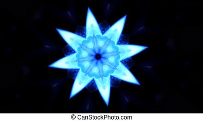 Abstract blue ksleidoscopic gas burner - Blue kaleidoscopic...