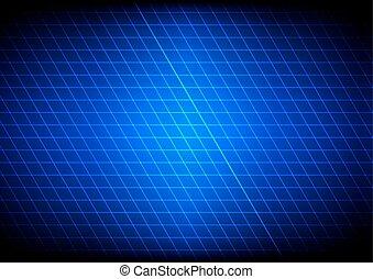 Abstract blue light grid. Vector illustration.