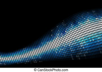 Abstract blue light mosaic vector background with copy space.