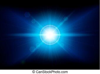 abstract  blue lighting  background. illustration vector design