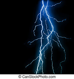 Abstract blue lightning flash background. Vector illustration