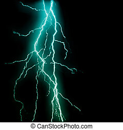 Abstract blue lightning flash background. Vector...