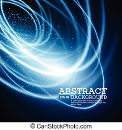 Abstract Blue Lights Effect Background. Vector illustration